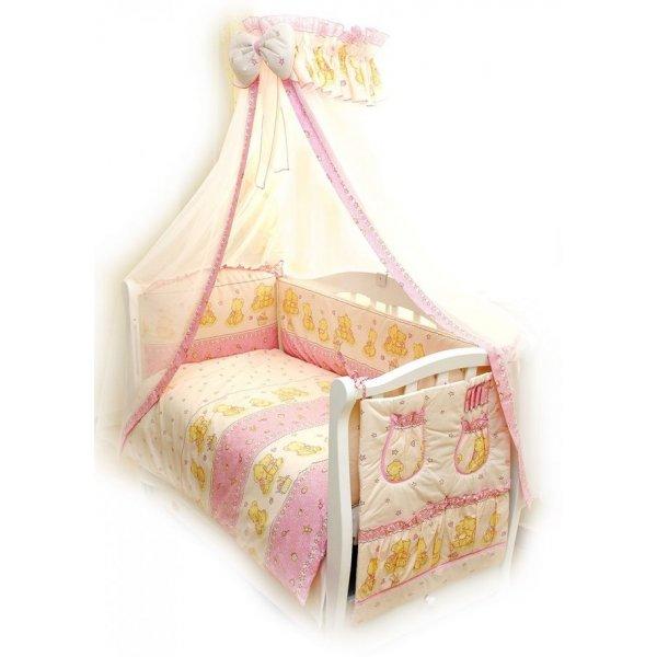 Постельный комплект Twins Comfort C-016 Мишки со звездой розовая