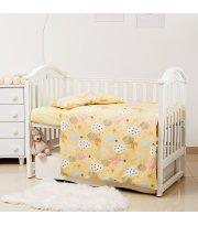 Сменная постель 3 эл Twins Premium Glamour Limited 3064-PGNEWC-05 Clouds yellow, желтый