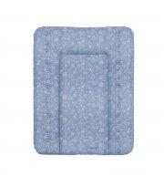 Пеленальный матрас Cebababy 50x70 Denim Style W-143-119-592, Boho blue, голубой