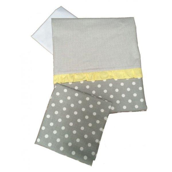 Сменная постель Twins Premium P-006 Glamur серый/желтый