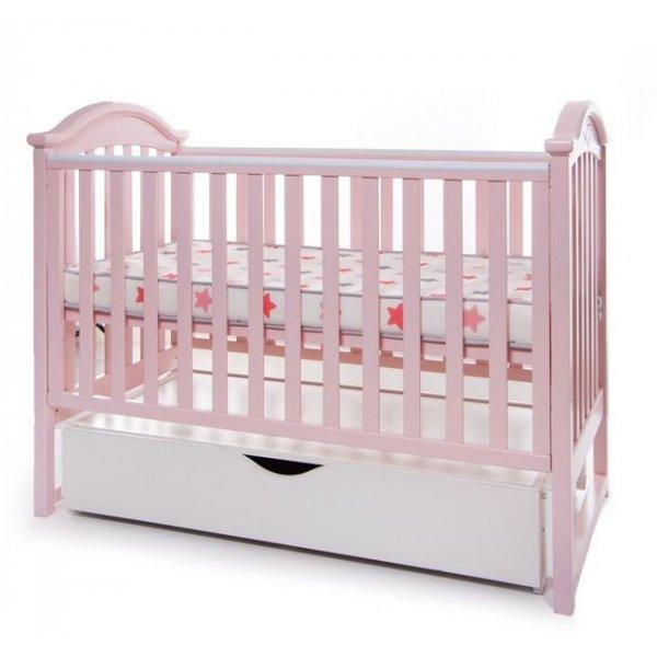 Кроватка Twins iLove маятник/ящик розовый