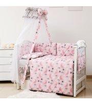 Постельный комплект 8 эл Twins Premium Glamour 4029-TGN-08 Ноченька розовая, розовый