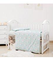 Сменная постель 3 эл Twins Premium Glamour Limited 3064-PGNEWM-014, Moon mint, мятный