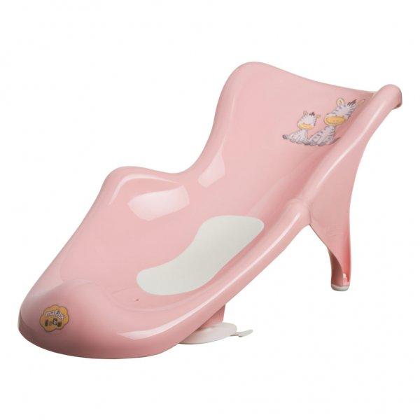 Горка для купания Maltex Zebra с антискользящим ковриком 6654 pink, розовый