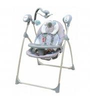 Качели Baby Mix SW102 мобиль + пульт LCP-SW102-902GR, grey, серый