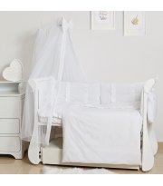 Постельный комплект 8 эл Twins Romantic Spring collection 4024-TR-01, white, белый