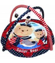 Коврик Baby Mix TK / Q3406C-62104 Мишки моряки TK / Q3406C-62104, Мишки моряки, синий