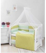 Детская постель Twins Evolution Облака 6 эл A-035 green