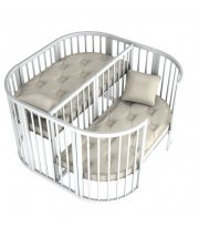 Кроватка Twins для двойни 110х110 белый