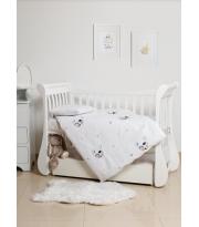 Сменная постель 3 эл Twins Dolce Summer day с вышивкой 3062-TD-100-01, white, белый
