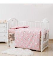 Сменная постель 3 эл Twins Premium Glamour Limited 3064-PGNEWM-08 Moon pink, розовый