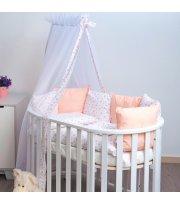 Постельный комплект 8 эл Twins Dolce Сердечки 4064-D-401, pink, белый / розовый