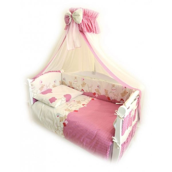 Постельный комплект Twins Comfort C-019 Горошек розовая