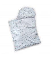 Набор в коляску Twins 100% хлопок (плед, подушка орт, прост) 1499-TMХБ-14, mint, мятный