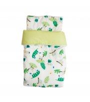 Набор Twins плед и подушка 80х110 (сатин/наполнитель slimtex) 1422-NTPS-06, Коалы, белый/зеленый