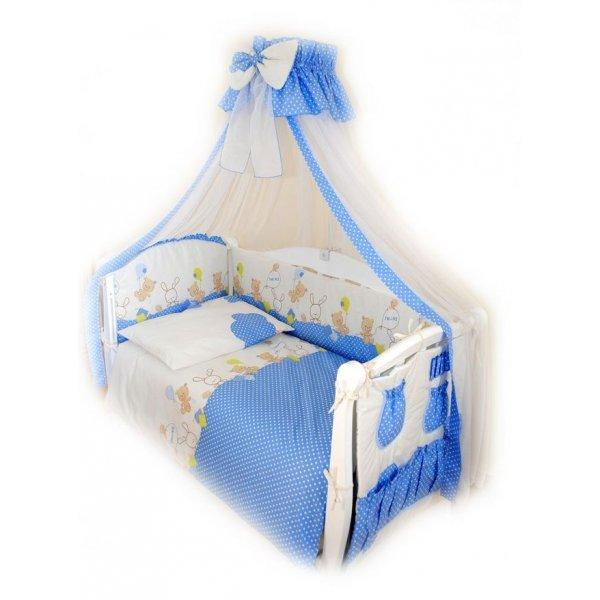 Постельный комплект Twins Comfort C-020 Горошек голубая