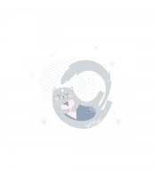 Набір в коляску Twins мусліновий Air (плед, подушка, наматрацник на рез) 1499-TMB-20, Жирафки, мультиколір