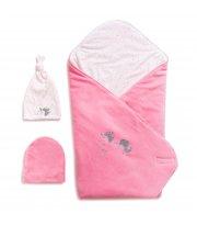 Набор на выписку Twins Celebrity (плед, 2 шапки) 9064-TC-08, pink, розовый