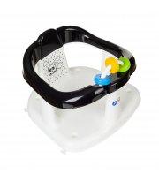 Креслице для купания Maltex Panda 6204 white / black, белый / черный