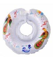 Круг для купания Дельфин музыкальный 1111-KDM-01, white, белый