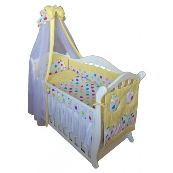 Постельный комплект Twins Comfort C-036 Цветные шарики желтая