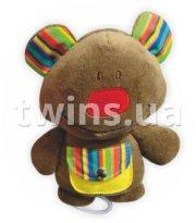Плюшевая подвеска музыкальная Baby Mix TE-8146 Мишка TE-8146B коричневый, brown, коричневый