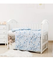 Сменная постель 3 эл Twins Romantic Spring collection 3024-RS-04 Butterfly blue, голубой