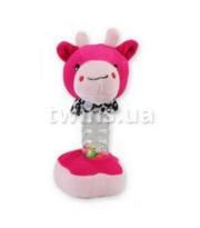 Плюшевая подвеска музыкальная Baby Mix YF-1069 YF 1069 G Жирафка, pink, розовый