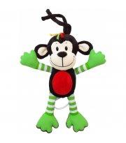 Плюшевая подвеска музыкальная Baby Mix TE-8124-30Y Обезьянка TE-8124-30Y, green, зеленый