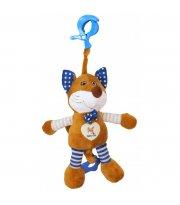 Плюшевая подвеска музыкальная Baby Mix STK-17508 Лис STK-17508B, blue, голубой