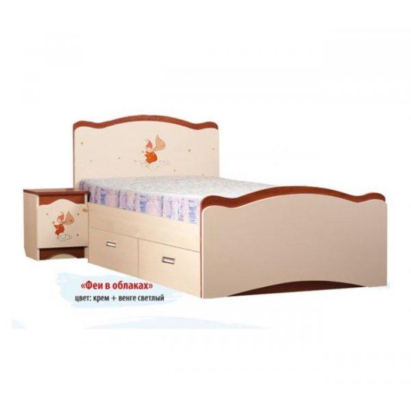 Детская кровать Вальтер Феи в облака 2 ящика