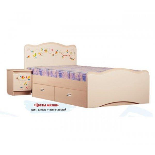 Детская кровать Вальтер Цветы жизни 2 ящика