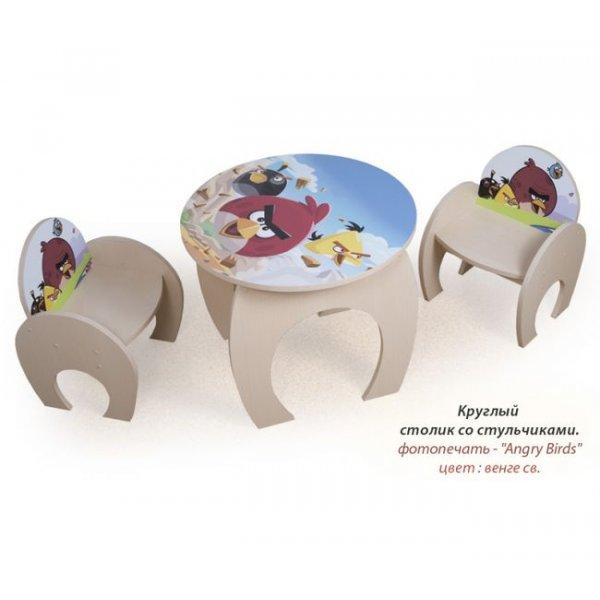 """Столик Вальтер """"Angry Birds"""" + 2 стульчика"""