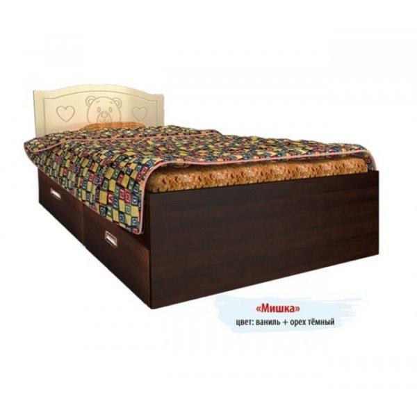 Детская кровать Вальтер Мишка 2 ящика