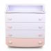 Комод-пеленатор Верес 900 ДСП (цвет: бело-розовый/пудра)