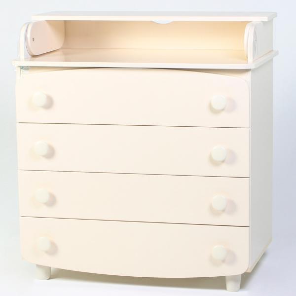 Комод-пеленатор Верес гладкие фасады (цвет: слоновая кость)