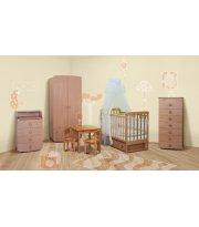 Детская комната Верес ЛД 12 м продольный бук + стол и стулья