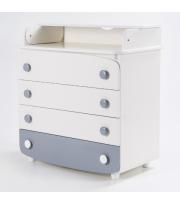Комод-пеленатор Верес 900 ДСП (цвет: бело-серый)