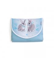 """Пеленальный матраc дорожный Верес """"Summer Bunny blue"""""""