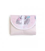 """Пеленальный матраc дорожный Верес """"Summer Bunny pink"""""""