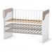 Кроватка Верес Сидней маятник без ящика (цвет: капучино-белый)