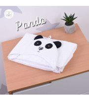 Пеленка после купания с уголком (капюшоном) Panda