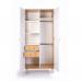 Шкаф Верес Нью Йорк 850 ящики внутри (цвет: бело-буковый)