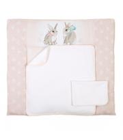 Пеленальный матрас Верес 72*80 Summer Bunny pink