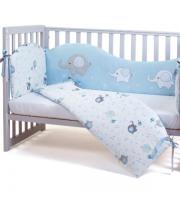 Сменный постельный комплект Верес Elephant family blue (3ед.)