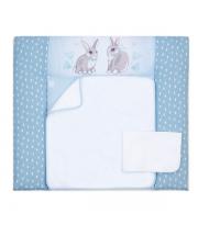 Пеленальный матрас Верес 72*80 Summer Bunny blue