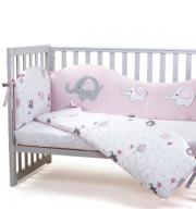 Сменный постельный комплект Верес Elephant family pink (3ед.)