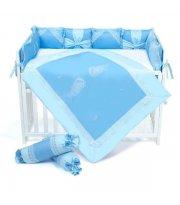 Постельный комплект Veres Angel wings blue (6 ед.)