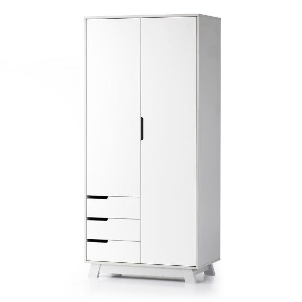 Шкаф Верес Манхэттен 850 с ящиками (цвет: бело-серый)