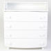 Комод-пеленатор Верес гладкие фасады (цвет: белый)